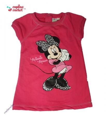 Rochie bebe Minnie Mouse (fucsia)