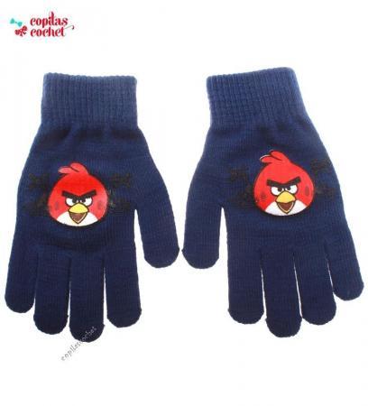 Manusi Angry Birds (bleumarin)