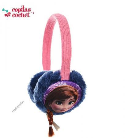 Urechi de iarna Frozen (roz-bleumarin)
