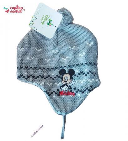 Caciula captusita bebe Mickey Mouse (gri)