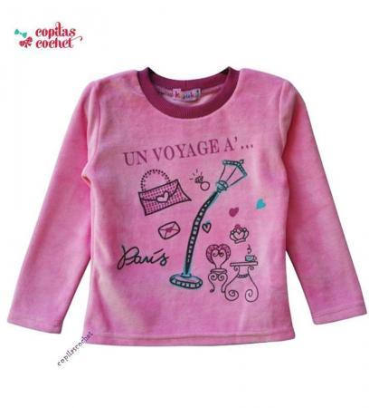 Bluza roz Un voyage a Paris