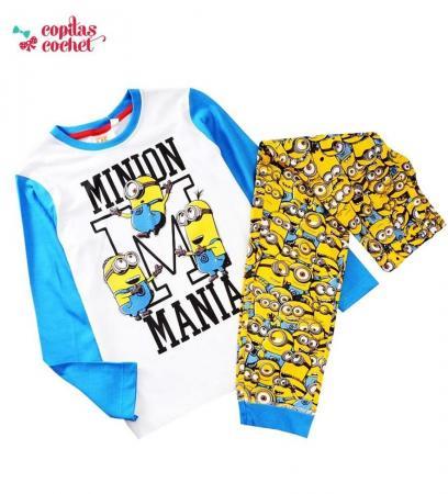Pijamale Minions (albastru)
