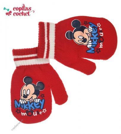 Manusi bebe Mickey Mouse (rosu)