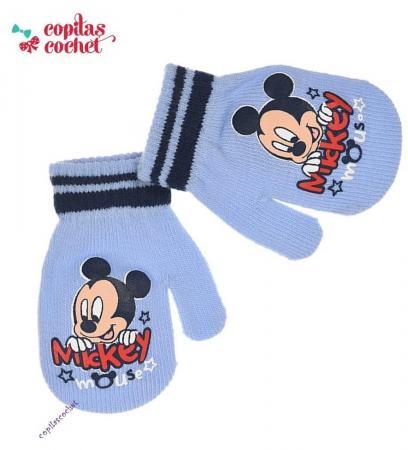 Manusi bebe Mickey Mouse (bleu)