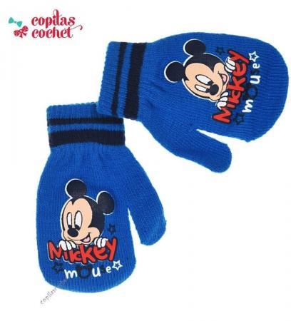 Manusi bebe Mickey Mouse (albastru)