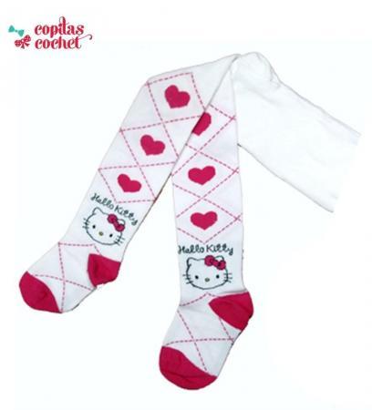 Dresuri bebe Hello Kitty (alb-fucsia)