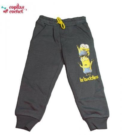 Pantaloni trening Minions (gri petrol)