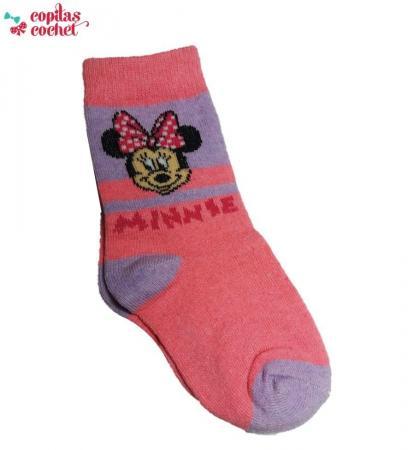 Sosete Minnie Mouse (mov-roz)