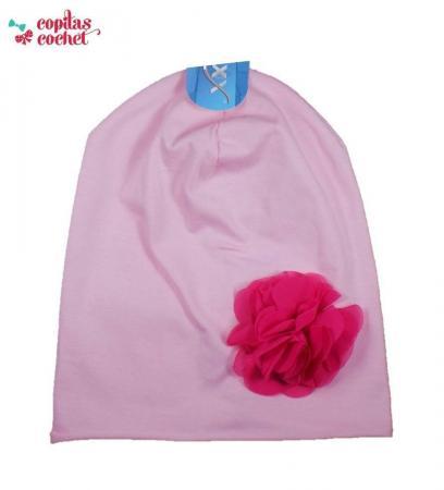 Caciula roz floare