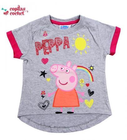 Tricou Peppa Pig (gri)