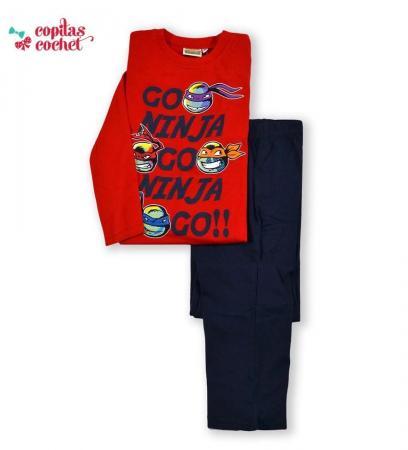 Pijamale Testoasele Ninja (rosu-bleumarin)