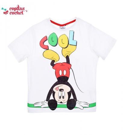 Tricou Mickey Mouse (alb)