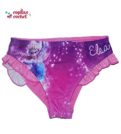 Slip de baie volane Elsa (roz)