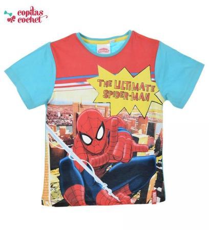 Tricou Spiderman (albastru-rosu)