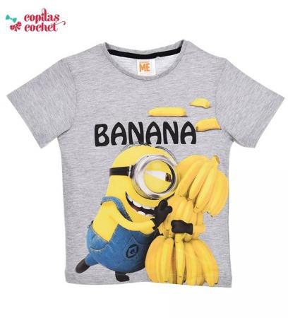 Tricou Minions (gri-banana)