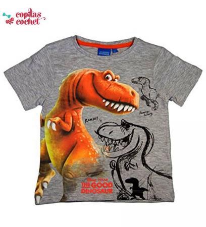 Tricou Bunul Dinozaur (gri)