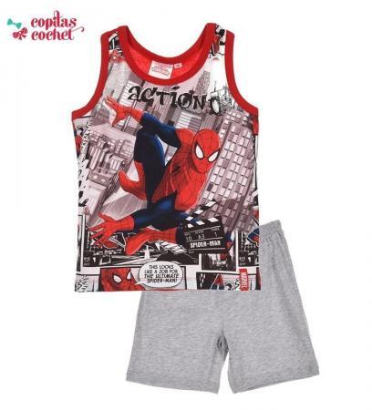 Pijamale de vara Spiderman (gri)
