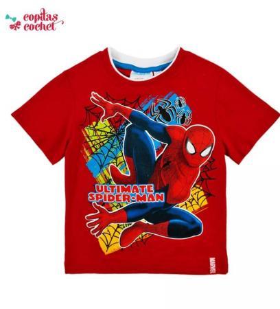 Tricou Spiderman (rosu-galben)