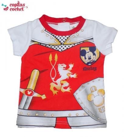 Tricou bebe Mickey Mouse (rosu)