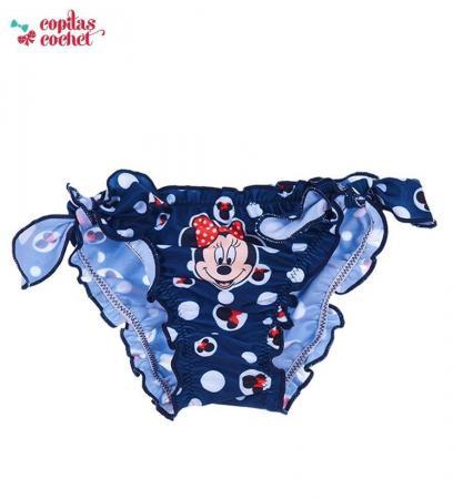 Slip de baie bebe Minnie Mouse (bleumarin)