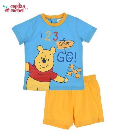 Compleu bebe Winnie the Pooh (albastru-galben)