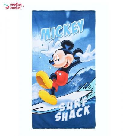 Prosop de plaja Mickey Mouse (albastru)