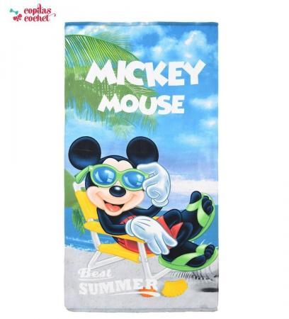 Prosop de plaja Mickey Mouse la plaja