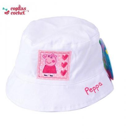Palarie Peppa Pig (alb)