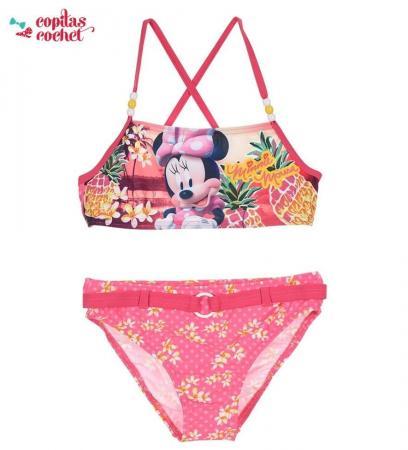 Costum de baie Minnie Mouse (roz)