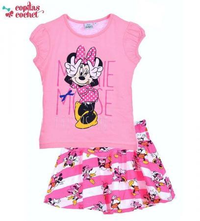 Compleu de vara Minnie Mouse (roz)