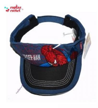 Viziera Spiderman (bleumarin)