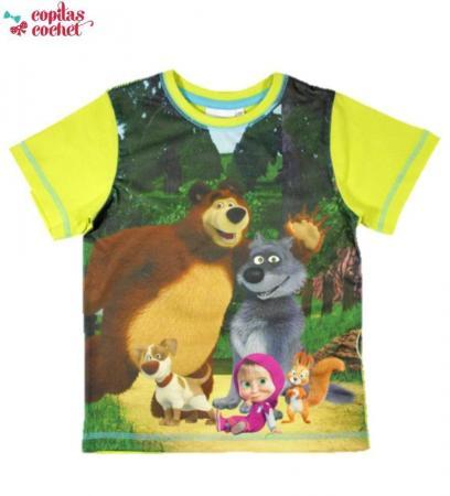 Tricou Masha si Ursul (galben)
