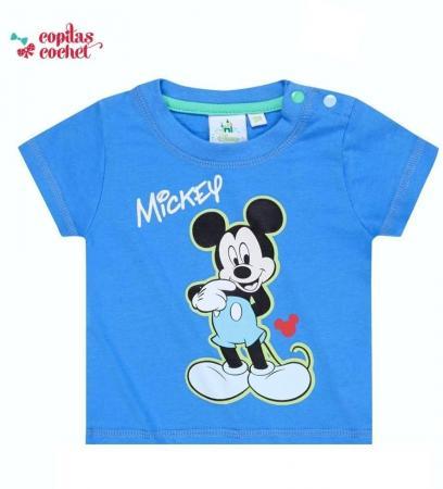 Tricou bebe Mickey Mouse (albastru)