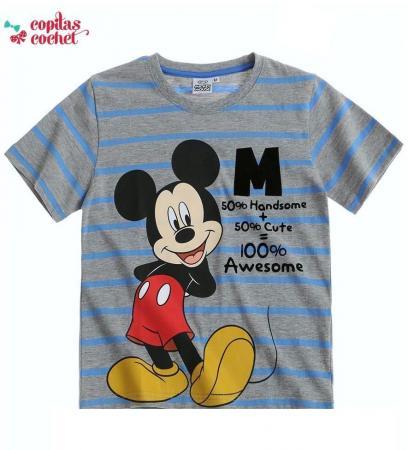 Tricou Mickey Mouse (gri dungi)