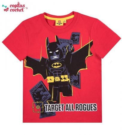 Tricou Lego Batman (rosu)