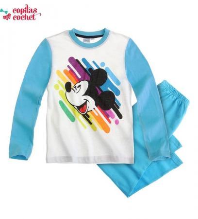 Pijamale Mickey-Mouse (alb-albastru)