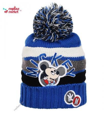 Caciula bebe Mickey Mouse (albastru)