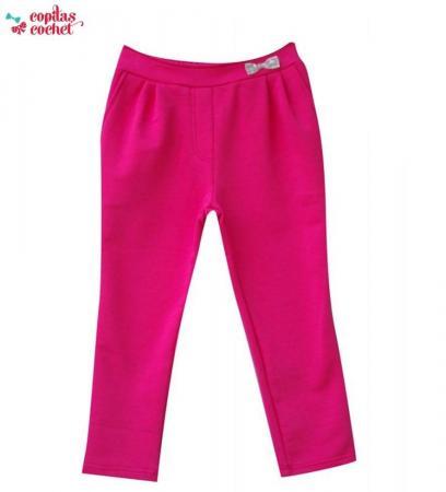 Pantaloni fundita (fucsia)