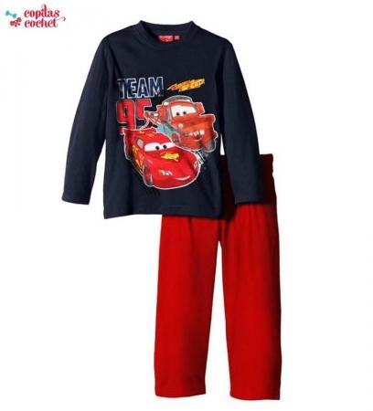 Pijamale Fulger McQueen (bleumarin-rosu)