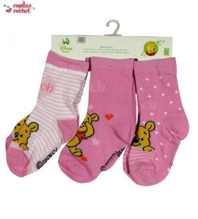 Set sosete Winnie the Pooh (roz)