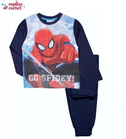 Pijamale Spiderman (bleumarin)