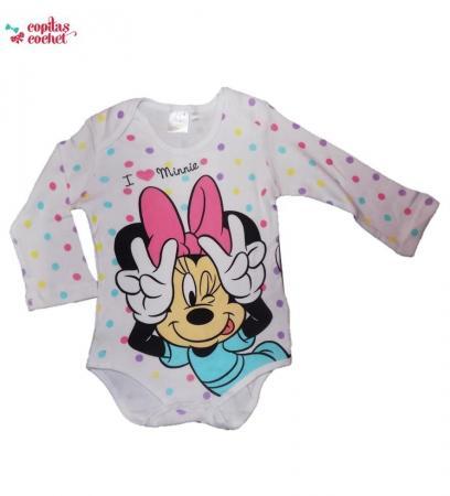 Body Minnie Mouse, alb buline