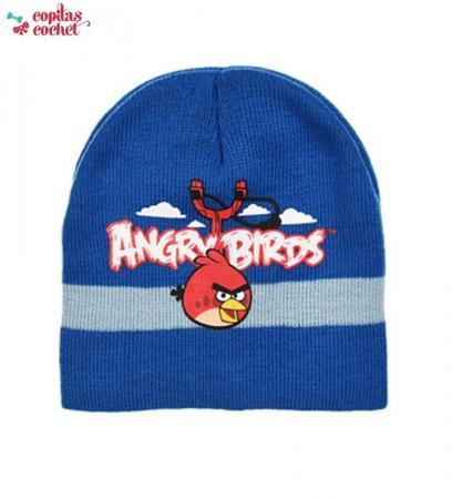 Caciula Angry Birds (albastru)