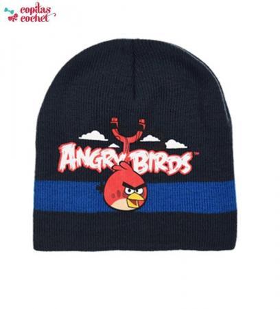 Caciula Angry Birds (bleumarin-albastru)