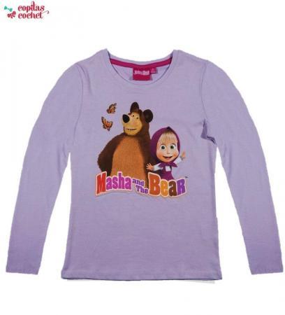 Bluza Masha si Ursul (lila)