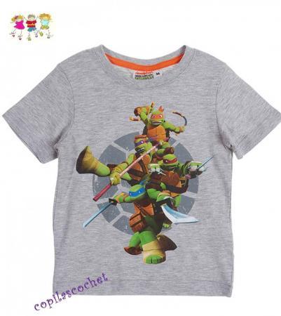 Tricou Testoasele Ninja (gri)