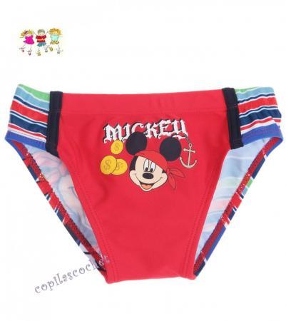 Slip de baie Mickey Mouse (rosu) tie cadou