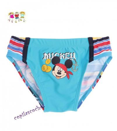 Slip de baie Mickey Mouse (albastru) tie cadou