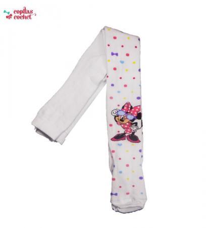 Dresuri Minnie Mouse alb (cu buline colorate)