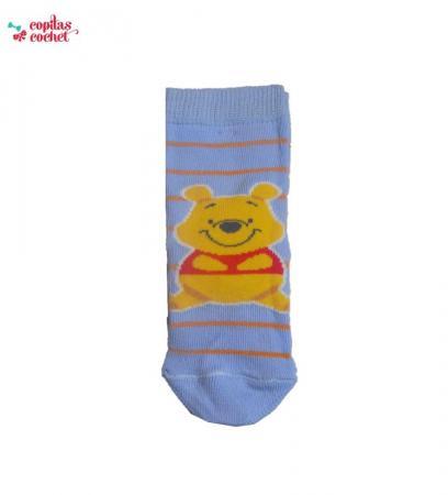 Sosete bebe Winnie the Pooh (bleu)